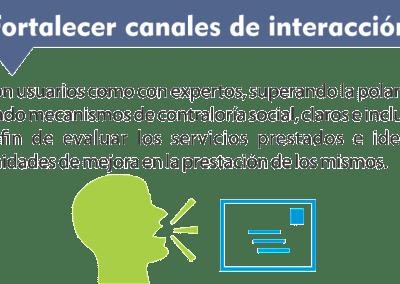 4. Fortalecer los canales de Interacción