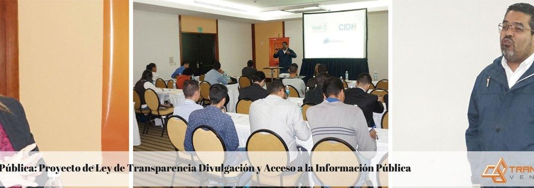 Proyecto de Ley de Transparencia fue consultado con la sociedad civil y partidos políticos