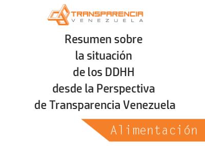Resumen sobre la situación de Alimentación desde la Perspectiva de Transparencia Venezuela