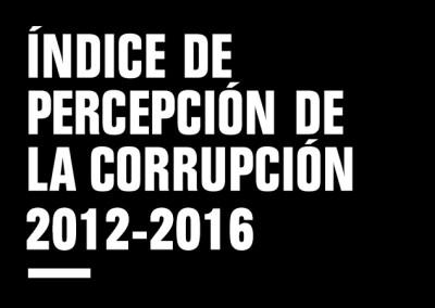 Índice de Percepción de la Corrupción 2012-2016
