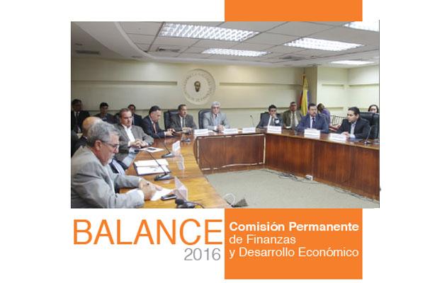 Balance 2016: Comisión de Finanzas y Desarrollo Económico
