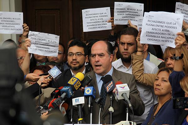 Asamblea Nacional tomará acciones de calle para exigir el pago de sueldos a sus trabajadores
