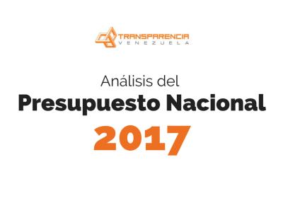 Análisis del Presupuesto Nacional 2017