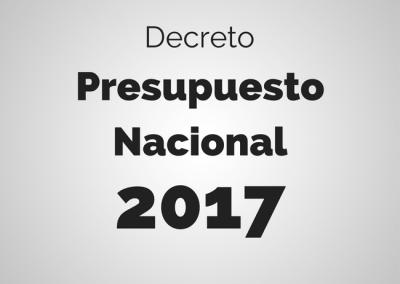 Presupuesto 2017 aprobado vía decreto por el TSJ