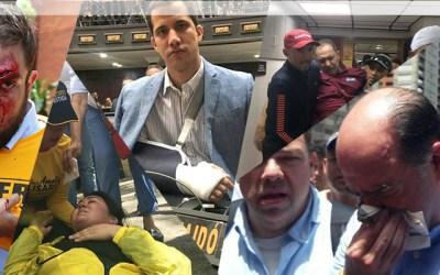 Al menos 25 diputados fueron agredidos en manifestación del 4 de abril