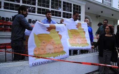 Diputados protestaron ante la Defensoría del Pueblo