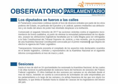 Asamblea Nacional | Marzo-Abril 2017