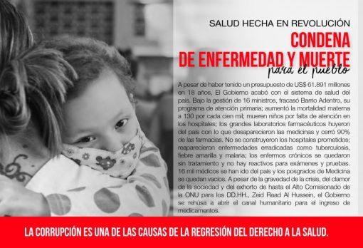 Condena de ENFERMEDAD y MUERTE   Salud hecha en revolución