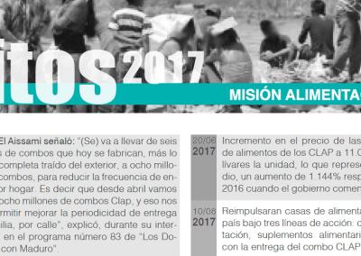 Hitos 2017: Misión Alimentación