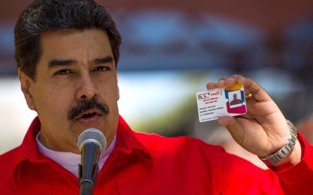 Carnet de la Patria y del PSUV en campaña electoral