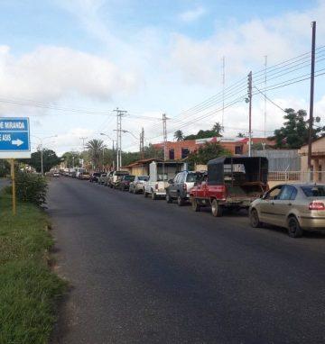 """Anzoátegui vivió el """"ensayo"""" y la angustia por la gasolina"""