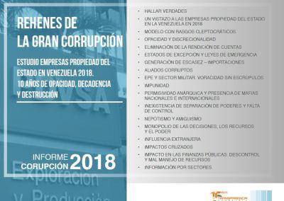 Rehenes de la gran corrupción. estudios Empresas Propiedad del Estado en Venezuela 2018