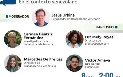 El fenómeno de la desinformación digital en Venezuela será el próximo Espacio de Transparencia
