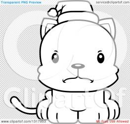 kitten mad santa hat wearing cat illustration cartoon christmas cute