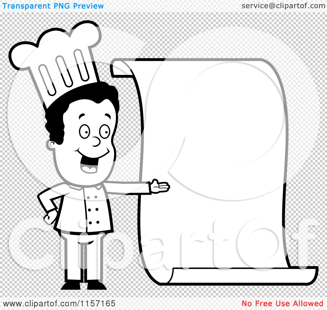 Cartoon Clipart Of A Black And White Friendly Female Chef