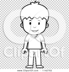 standing boy outlined coloring clipart vector cartoon cory thoman