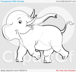 elephant baby cute background clipart cartoon vector outlined playful royalty clip transparent illustration lal perera yes
