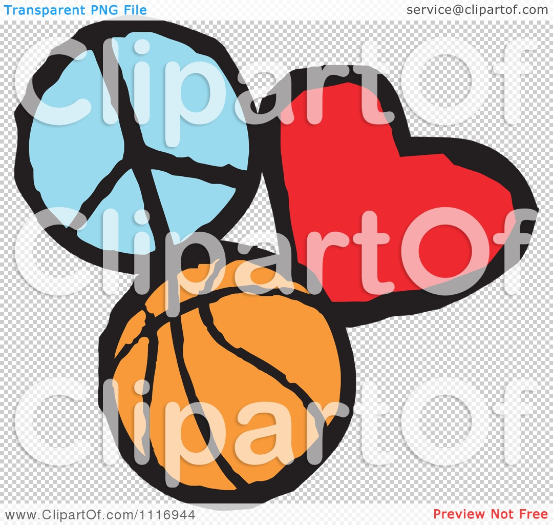 Download Cartoon Of Peace Love Basketball Graphics - Royalty Free ...
