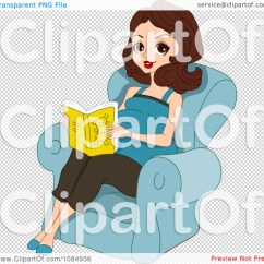 A Chair For My Mother Sparknotes High Back Metal Dining Chairs Clipart Brunette Pregnant Woman Reading In