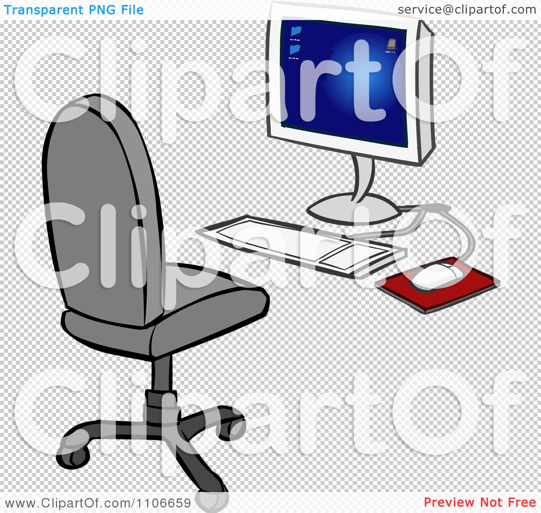 office chair illustration raised toilet clipart desktop computer and royalty free