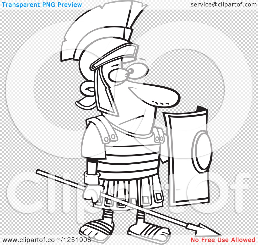 roman soldier diagram mercruiser alternator wiring clipart of a black and white cartoon
