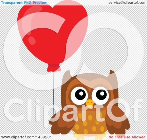 clipart of brown valentine owl