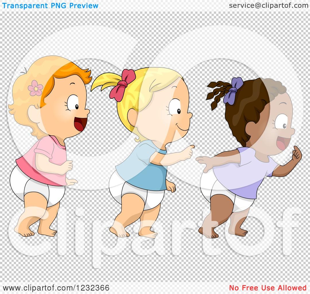 Diverse Babies Clip Art