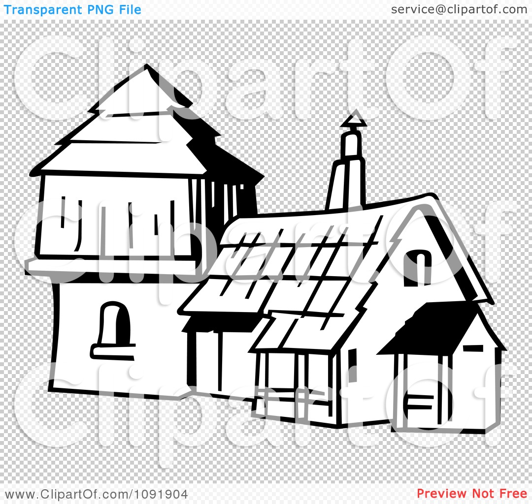 Clipart Outline Of An Old Fashioned House