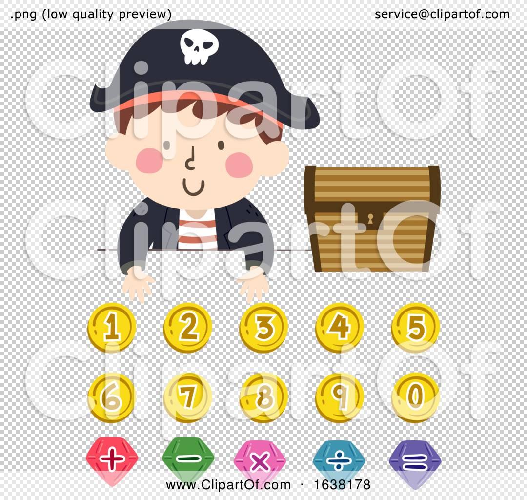 Kid Boy Pirate Numbers Math Operators Illustration By Bnp Design Studio
