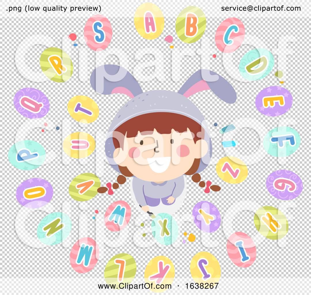 Kid Girl Easter Egg Paint Alphabet Illustration By Bnp Design Studio