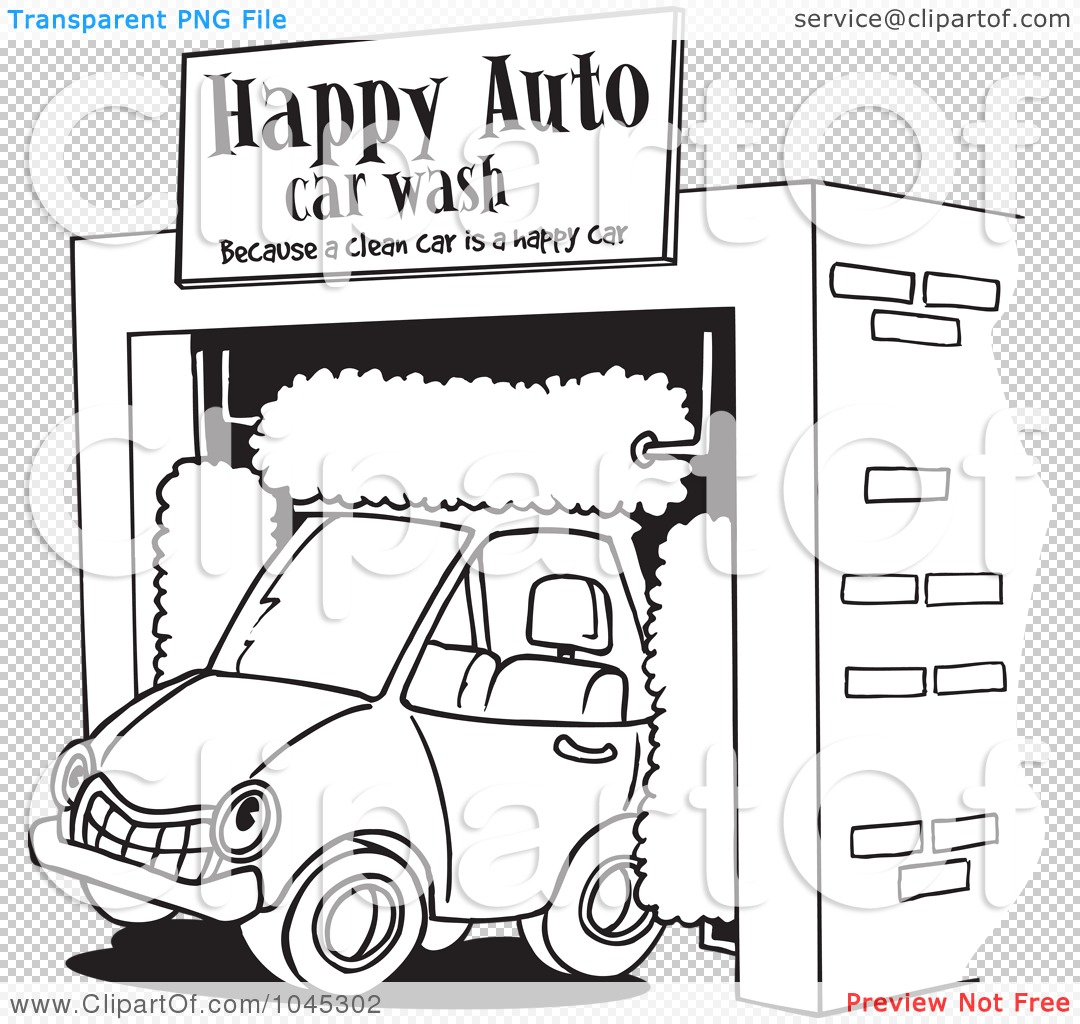 Funny Car Wash Coloring Page Coloring Pages