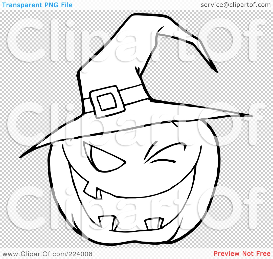 Royalty Free Rf Clipart Illustration Of A Coloring Page Outline Of A Toothy Jackolantern