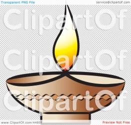 Royalty free RF Clipart Illustration of a Glowing Oil Lamp With a Flame by Lal Perera #44801