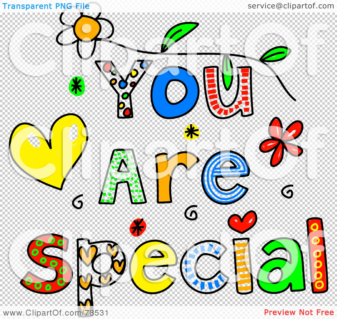 Royalty Free Rf Clipart Illustration Of Colorful You Are