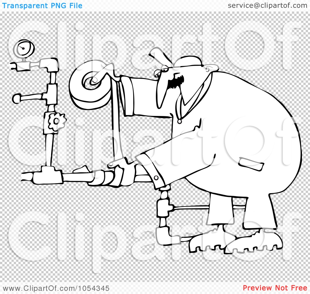 Plumbing Clip Art Black And White Pictures To Pin On