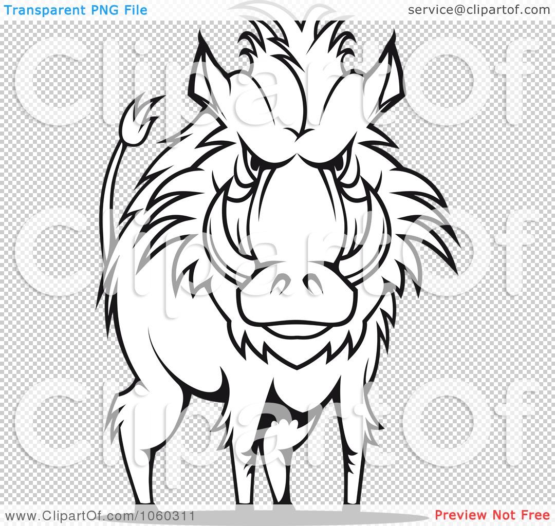 Royalty Free Vector Clip Art Illustration Of A Razorback