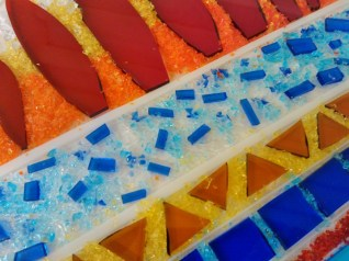Students Fused Glass Panel
