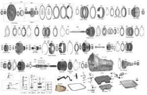 Trans Parts Online AOD 4R70 Transmission Parts