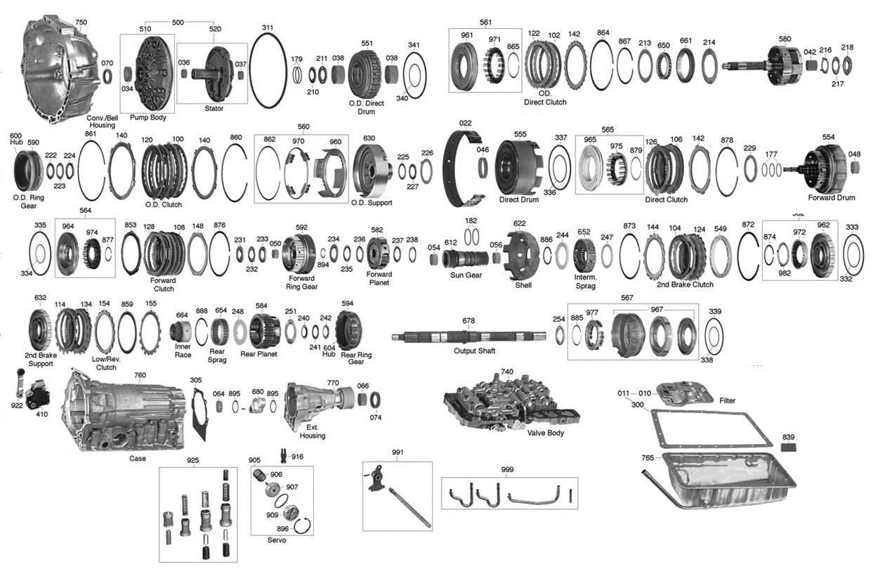Toyota A340f Transmission Parts Diagram. Toyota. Auto