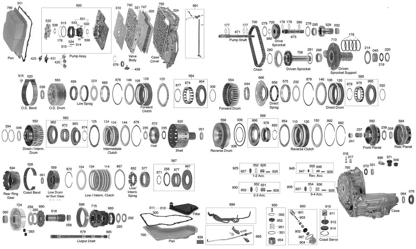 Ax4n Transmission Parts Diagram Trans Parts Online