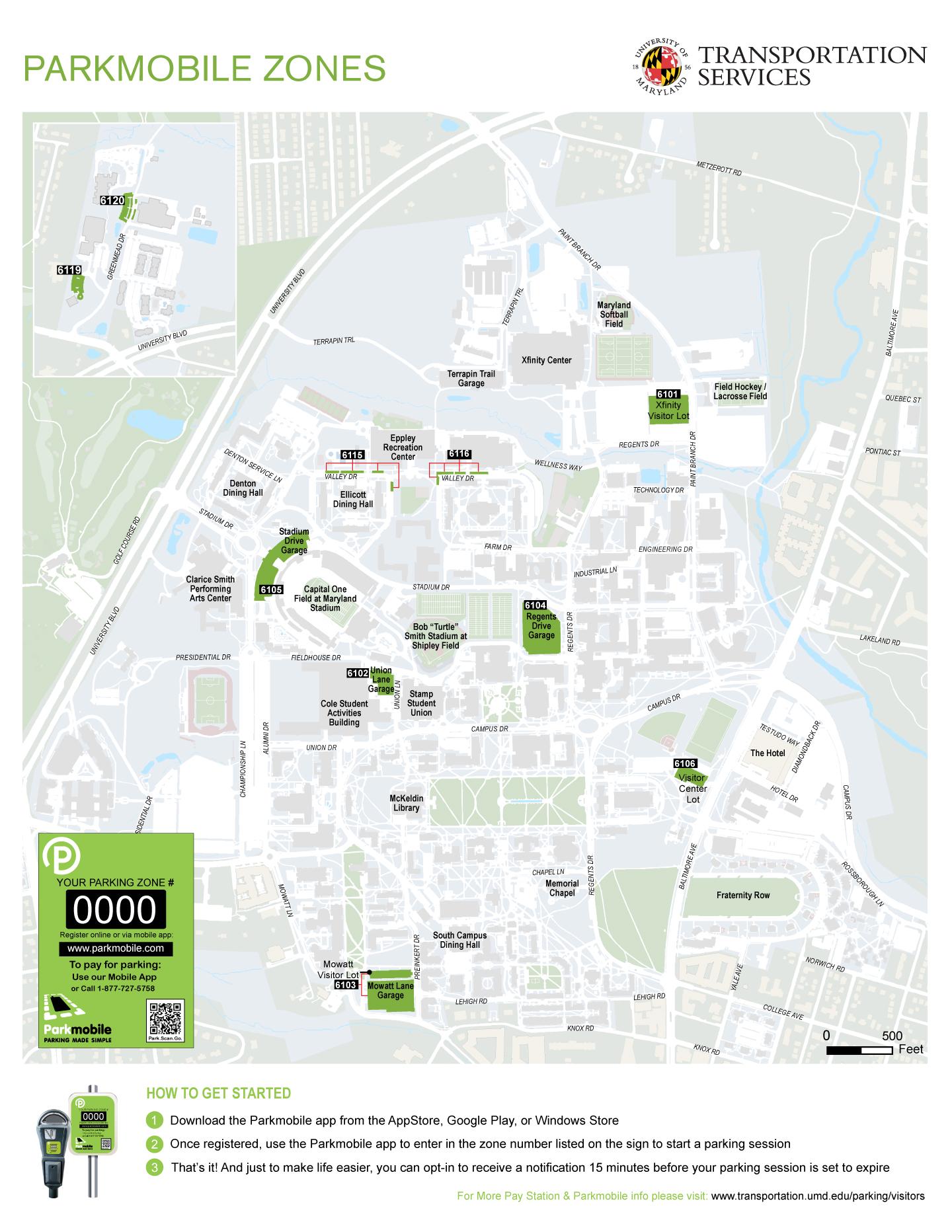 Umd Parking Map : parking, PARKMOBILE, NUMBER, LOCATOR