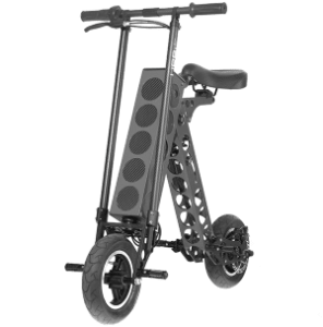URB-E Electric Scooter Black - Side View