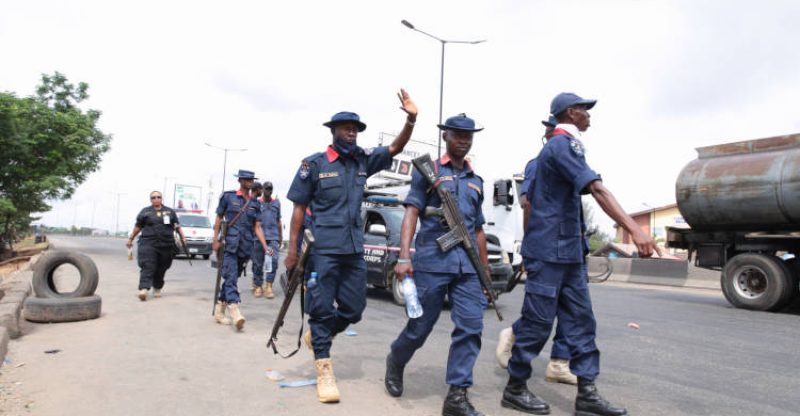 Nigeria Security and Civil Defence Corps Officers.