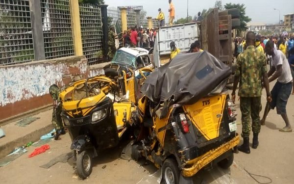 Motor accident at Onitsha leaves five dead, many injured.