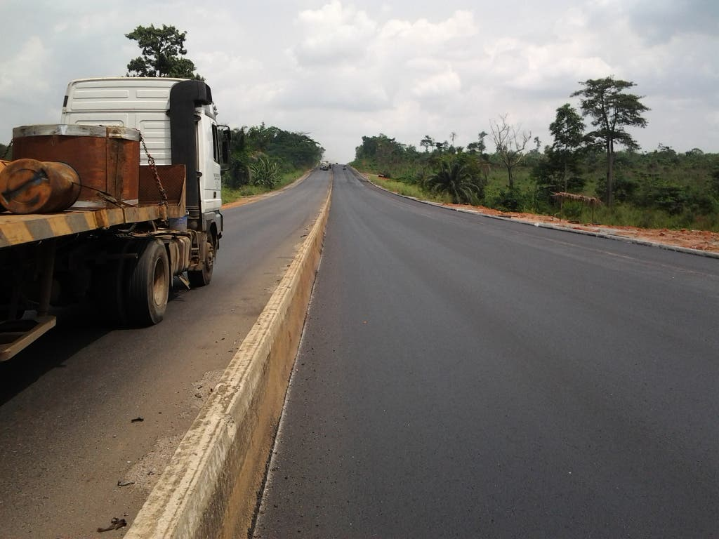 Construction of the East-West Road.