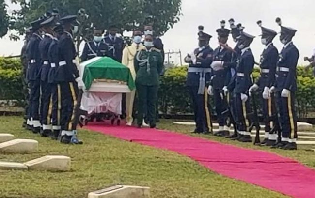 Flying Officer Tolulope Arotile laid to rest in Abuja