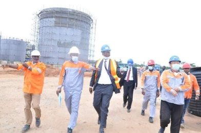 The Senior Special Assistant to the President on Niger Delta Affairs, Mr Edobor Iyamu, at the Edo refinery.