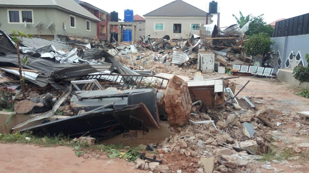 Enugu government demolish duplex of man who destroyed airport fence