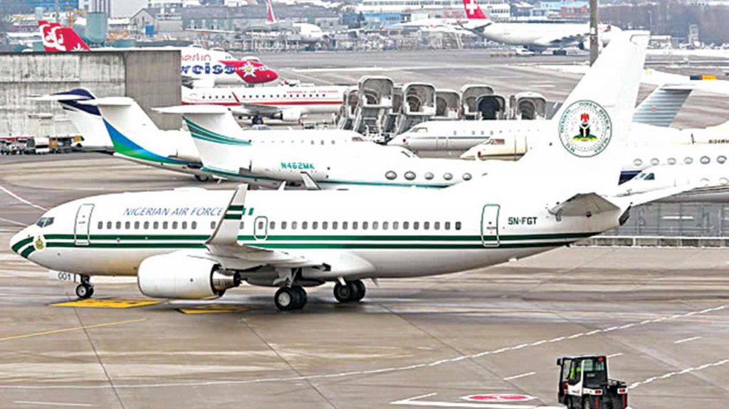 FG puts up nine-year old jet from presidential fleet for sale