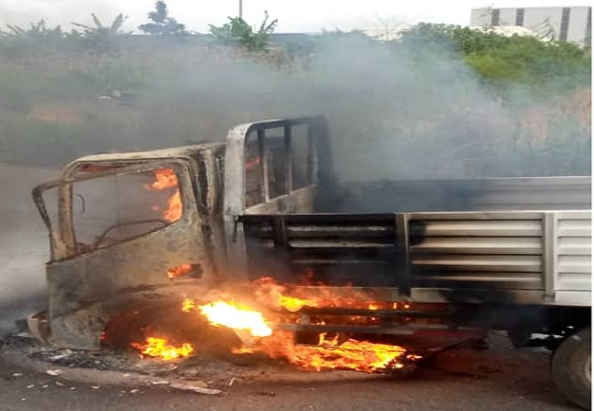 Three burnt to death, one injured in accident on Lagos-Ibadan Expressway